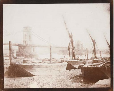 the hungerford bridge london by william henry fox talbot