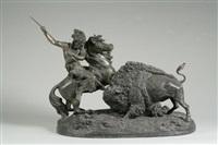 the buffalo hunt by theodore baur