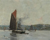 barges on the clyde by james kay