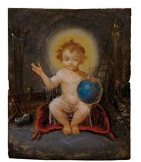christ sauveur du monde devant les instruments de la passion by pierre brebiette
