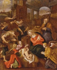 the adoration of the shepherds by jan de beer