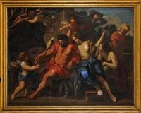 hercule et omphale by giovanni francesco romanelli