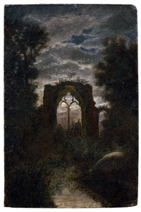 ruins of netley abbey by moonlight by carl gustav carus