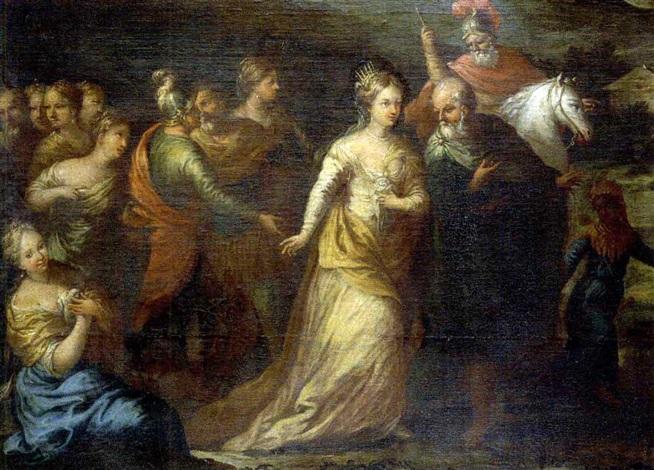 réception de la reine de saba by andrea celesti