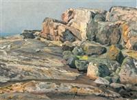 coastal landscape by berndt adolf lindholm