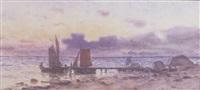 segelbåtar vid brygga by hjalmar falk