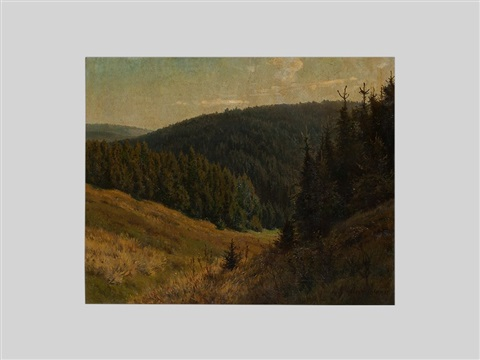 mountain landscape by heinrich harder