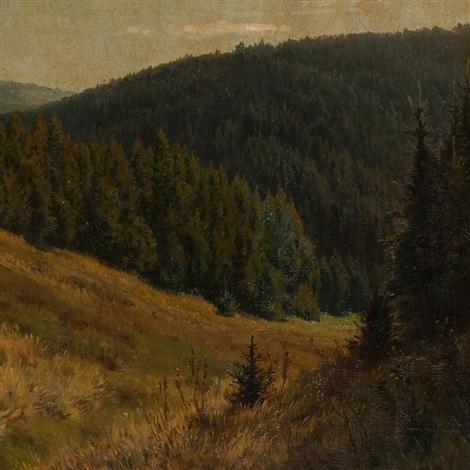 mountain landscape by heinrich harder