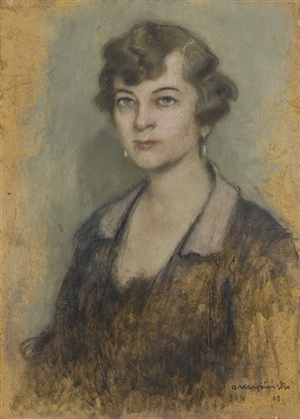 portrait of a lady by alfons karpinski