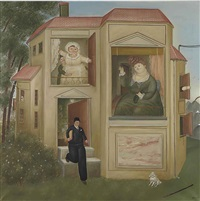 man going to work (hombre yendo a la oficina) by fernando botero