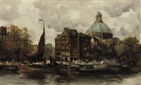 the koepelkerk along the singel, amsterdam by hobbe smith