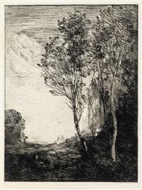 souvenir d'italie by jean-baptiste-camille corot