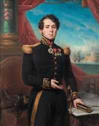 portrait de théodore dupont d'aubevoye, comte d'oysonville (1784-1862), commandant de vaisseau, commandeur de la légion d'honneur by françois gabriel guillaume lépaulle