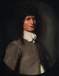 portrait d'homme dans un ovale peint by pieter nason