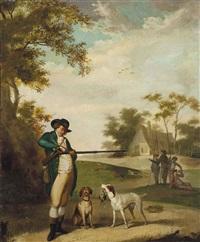 a day's hunting by george morland and julius caesar ibbetson