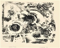 first stone; second stone (2 works) by lee bontecou