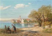 wasserburg am bodensee by alfred (wilhelm) metzener