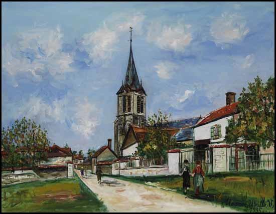 église de la boissière rue principale by maurice utrillo