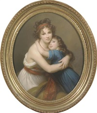 portrait of vigée-le brun (1755-1842) with her daughter (after marie louise elisabeth vigée-lebrun) by blanche véronique