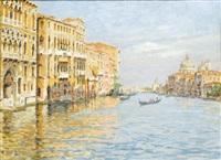 venezia, il canal grande presso la salute by zaccaria dal bo