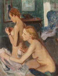 two nudes by josef multrus