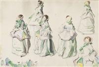 six élégantes by etienne drian