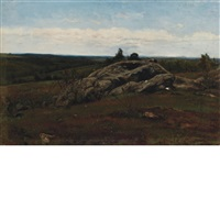 landscape with rocks by james mcdougal hart