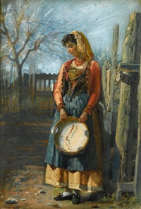 the tambourine player by josé tapiro y baro