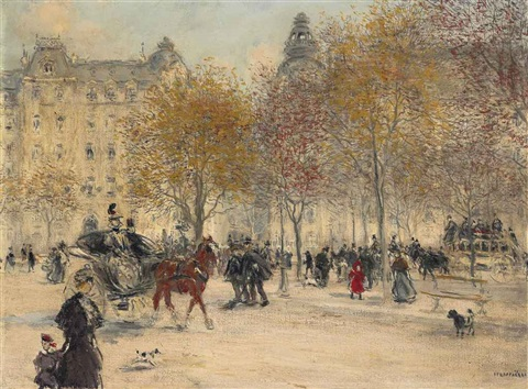 autumn in paris by jean françois raffaëlli