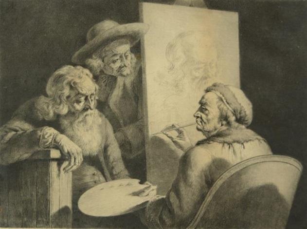 the grand school master self portrait in studio by jean jacques de boissieu