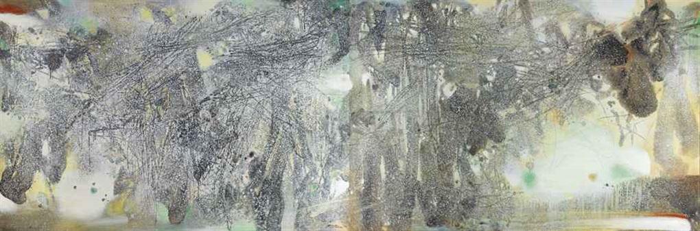 la forêt blanche ii diptych by chu teh chun