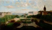vy över kungsträdgården från hamngatan by julia charlotte mortana strömberg