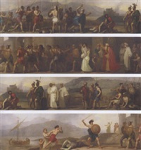 scene from ossian  by robert smirke