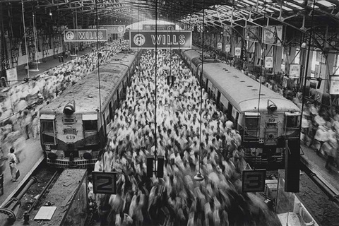 churchgate train station bombay india by sebastião salgado