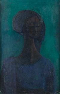 girl in blue by yusuf grillo