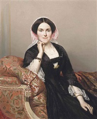 portrait of an elegant lady by adolphe-edme fontaine