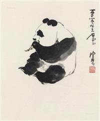 熊猫图 镜框 by chen peiqiu