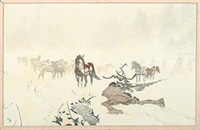 winter indian scene by jacob pfeiffer
