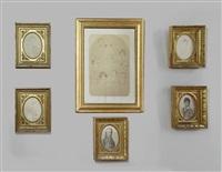 portrait d'alexis de pomereu; portrait d'etienne de pomereu, marquis d'aligre; portrait d'armand-michel de pomereu (3 works) by henri-joseph hesse