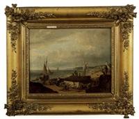 bord de mer (after leleux) by théophile victor emile lemmens