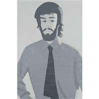 plaid shirt 2 by alex katz