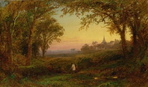 hurstbourne church lord portsmouths park surrey by jasper francis cropsey