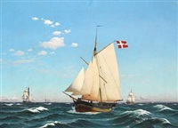 the danish yacht sylphiden by carl dahl