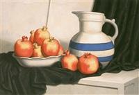 still life with pomegranates by yacov gabay