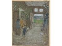le vestibule, saint-jacut by edouard vuillard