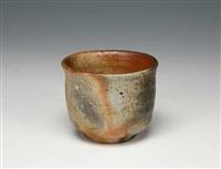 a bizen porcelain sake cup by yamamoto toshu