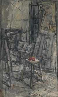 pommes dans l'atelier by alberto giacometti
