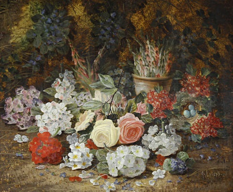 still life with flowers by henry j livens
