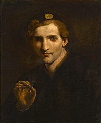 a young man holding a butterfly by pietro paolini