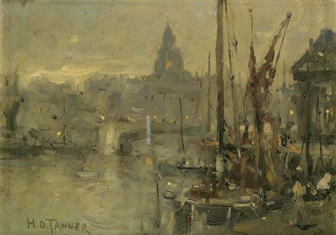 untitled view of the seine by henry ossawa tanner